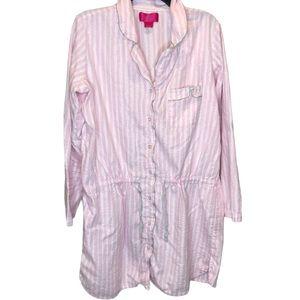 Victoria's Secret Striped Nightshirt sz L